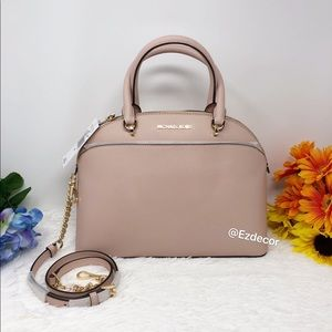 NWT Michael Kors Emmy Dome Leather Satchel